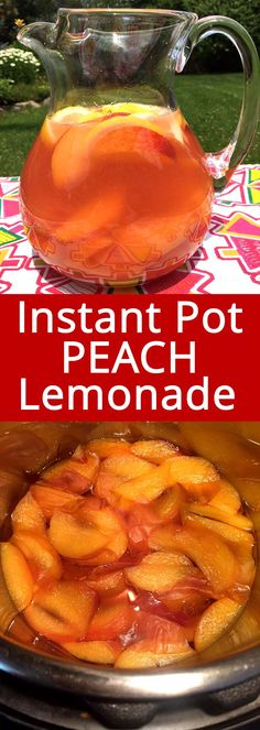 Instant Pot Peach Lemonade Recipe With Fresh Peaches This Instant Pot fresh peach lemonade is the best peach lemonade I've ever tried! Nothing compares to the taste of real fresh peaches! Peach Lemonade Recipes, Easy Lemonade Recipe, Fresh Peach Recipes, Homemade Lemonade Recipes, Tea Recipes, Cooking Recipes, Peach Recipes Dinner, Drink Recipes, Restaurants
