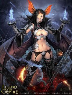 Artist: Lee Jong-chul aka MandRill - Title: Bat Queen Lura - Card: Unknown