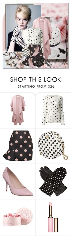 """""""Elle Fanning"""" by erissa ❤ liked on Polyvore featuring Chloé, Forte Forte, VIVETTA, Dolce&Gabbana, Office, Dents, Guerlain and Clarins"""