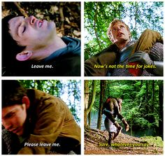 """No matter how much Arthur denied it at first, Merlin truly was and will always be his best and most loyal friend."""