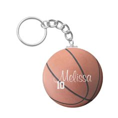 Customize this individual personalized basketball keychain by changing the  player name and number.  player 7385cffb51