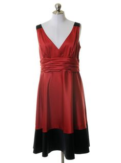 Donna Morgan Red Satin Party Dress