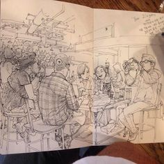 At Bar Zingaro - cool drawing by master Kim Jung Gi