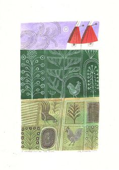 three chickens & oasthouse by Joe McLaren, via Flickr