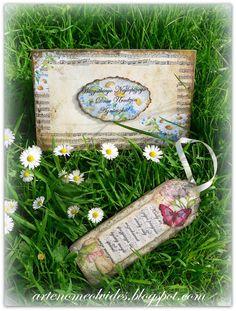 NIEZAPOMINAJKA NOMEOLVIDES: joyas/ biżuteria/cartas para cumpleanos/carta de madera hecho a mano decuplage total/ creación de obra de arte /手工制作生日贺卡
