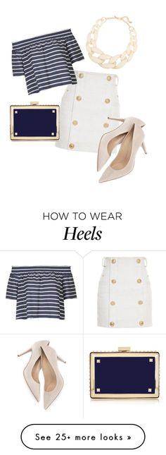 """""""Untitled #820"""" by srlangley on Polyvore featuring Balmain, Topshop, Kenneth Jay Lane and Valentino"""