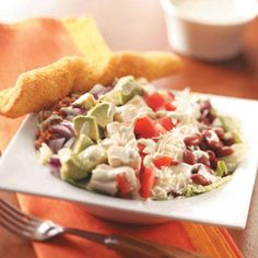 Cobb Salad with Chili-Lime Dressing Recipe from Taste of Home -- shared by Mary Meek of Toledo, Ohio