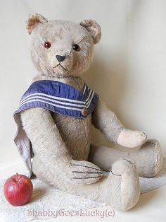 Antique 1910s German bear made by Hermann Teddy by ShabbyGoesLucky
