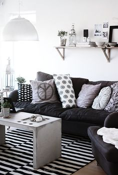 Julie Adama posted living rooom to her -For the home- postboard via the Juxtapost bookmarklet. My Living Room, Home And Living, Small Space Living, Living Spaces, Interior Exterior, Interior Design, Concrete Furniture, Concrete Table, Monochrome Interior