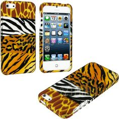 Amazon.com: myLife (TM) Wild Animals Print Series (2 Piece Snap On) Hardshell Plates Case for the iPhone 5/5S (5G) 5th Generation Touch Phon...