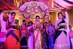 The grandeur of Telugu weddings. Poola pandiri. .