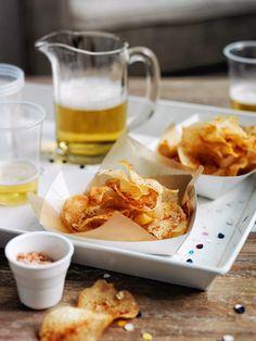 Homemade Knabberzeug für die Party: Hot Vinegar Chips
