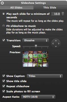 How to Customize iPhoto Slideshows | Mac|Life