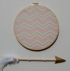 Princess Warrior Medium Hoop in Pink & Gold by slateandsage