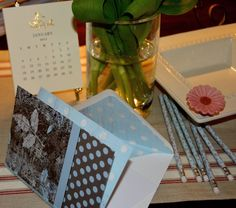A SCRAPBOOK OF INSPIRATION: How to embellish your favorite blank notecard to create a special gift