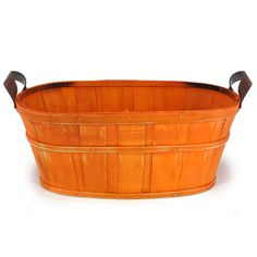 Oblong Woodchip Utility Tray Large - Orange  6.00