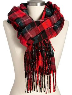 Old Navy Womens Plaid Flannel Scarves Size One Size - Red plaid by: Old Navy @Old Navy (US)