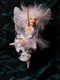 OOAK Christmas Snowflake Fairy Ornament by LoreleiBlu on Etsy, $50.00