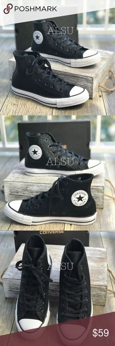 b679a65777c87e Converse Ctas Stingray Metallic HI Black W AUTHENT