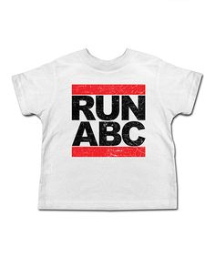 Love this White 'Run ABC' Tee - Toddler & Kids by American Classics on #zulily! #zulilyfinds