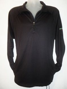 GREG NORMAN GOLF Mens BLACK 1 4 Zip Pullover Play Dry Golf Sport Jacket M fc49aa3e58
