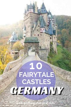 10 castles in Germany you can't miss. Travel to the countryside to witness history and the German culture right in front of your eyes. Visit Eltz Castle in the German woods or the Neuschwanstein Castle that served as a model for Sleeping Beauty's Castle in Disneyland. | Getting Stamped - Couple #Travel & #Photography #Blog #Germany