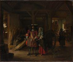 Paying the Hostess Pieter de Hooch  (Dutch, Rotterdam 1629–1684 Amsterdam)