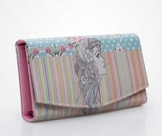 Lady Alice Clutch by Zavi. Complete your fun and playful day with this clutch. It has cool illustrations. http://www.zocko.com/z/JIJL9