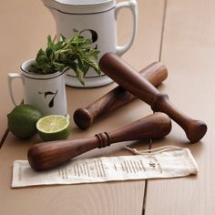 If mixing herbs and spices in the kitchen is one of your favorite pastimes, these Wooden Muddlers are a must-have.