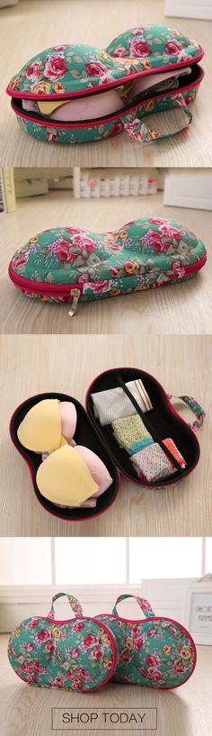 Portable Travel Underwear Bra Storage Bag Storage Box. #home storage #travel #bra