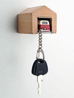 Car keys with garage