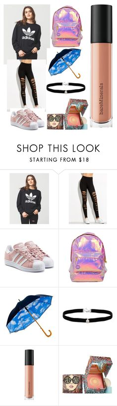 """Isabelle.B"" by llamapoop ❤ liked on Polyvore featuring adidas, adidas Originals, Miss Selfridge, Amanda Rose Collection, Bare Escentuals and Benefit"