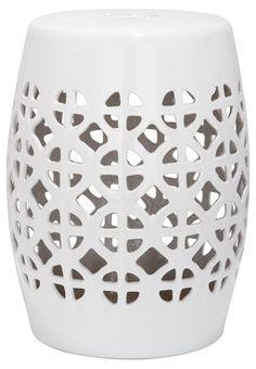 Janera Ceramic Garden Stool, White                                                                                                                                                                                 More