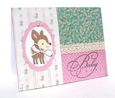 Baby Girl Congratulations Greeting Card  Handmade by sophienme, $4.00