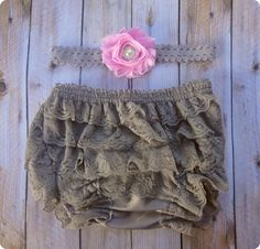 Hey, I found this really awesome Etsy listing at https://www.etsy.com/listing/158729471/gray-lace-diaper-headband-diaper-bloomer