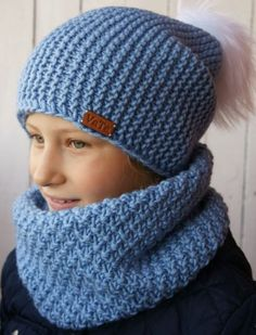 32 шапки для мальчика спицами с описанием и схемами 90