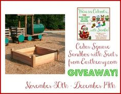 Cedar Square Sandbox with Seats from Eartheasy.com #Giveaway #InCahoots - Thrifty Nifty Mommy