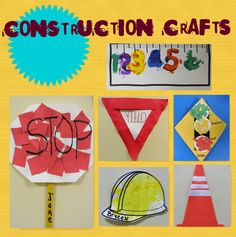 Construction Theme Preschool, Under Construction Theme, Construction Crafts, Preschool Center Signs, Preschool Crafts, Montessori Activities, Craft Activities For Kids, September Preschool, November 2