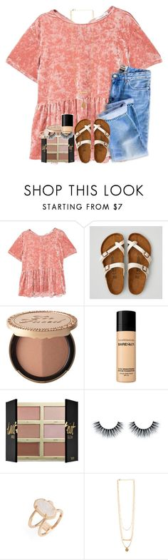 """""""had a great weekend!"""" by kyliegrace ❤ liked on Polyvore featuring MANGO, American Eagle Outfitters, Too Faced Cosmetics, Bare Escentuals, tarte and Kendra Scott"""