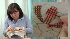 Hand Embroidery - Trellis stitch tutorial - YouTube