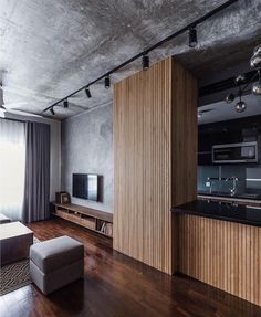 Ideas Apartment Architecture Design Loft For 2019 Interior Design Living Room, Living Room Designs, Modern Apartment Design, Appartement Design Studio, Apartment Interior, Family Apartment, Studio Apartment, Small Apartments, Interior Architecture