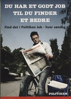 Go Card Advertising Postcard, Du har et godt job til du finder et bedre (Politiken newspaper) 6890