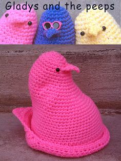 We LOVE peeps! Crochet a hat or use it as decoration. Sizes for child to adult. On Sale today only! Use coupon code SPRING when checking out (4/2/14)