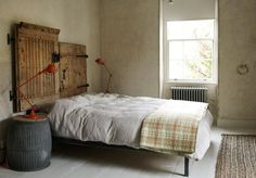 Bed with reclaimed wood