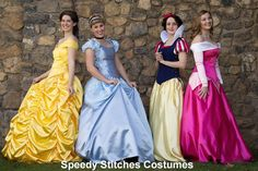 Professional quality princess costumes, made to order! I think I know what I'll be for this Halloween...