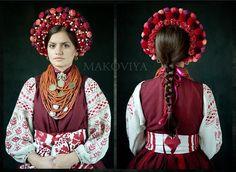 Folk Fashion, Tribal Fashion, Folklore, Folk Costume, Costumes, Flower Head Wreaths, Ukrainian Dress, Folk Clothing, Flowers In Hair