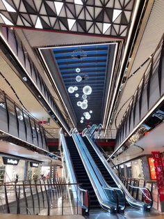 GALA MALL Shanghai Commercial Interior Design, Commercial Interiors, Shoping Mall, China Architecture, Mall Design, Space Interiors, Retail Interior, Digital Signage, Common Area