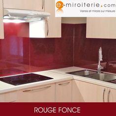 R novation de cr dence de cuisine en verre laqu aluminium - Credence rouge pour cuisine ...
