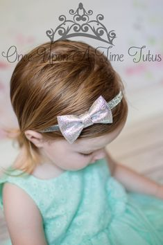 Check out this item in my Etsy shop https://www.etsy.com/listing/177015258/silver-glitter-bow-headband-gray-sparkle
