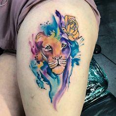 #mulpix Nice colors used on this Lion Watercolor piece done at @inkaholik_kendall Miami, Fl. Follow  @inkaholiktattoos  (305)380-8118.....10855 sw 72 St Miami, Fl. 33173 Artist @juanink_art #Inkaholiktattoos #Inkaholiks #Inkaholik #Miami #MiamiTattoos #kendall #instapic #instatattoo #tatt #tatts #tattoed #inked #tattoos #tattoo #tattooartist #artist #newtattoo #nofilter #Love #lovetattoos #305 #305tattoos #ink #BestTattoosInMiami #IKtattoos #PopularInk #305ink #DadeCounty #InkIG